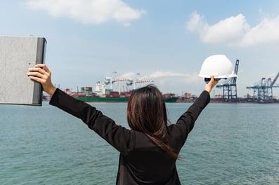 woman-shipping-dock